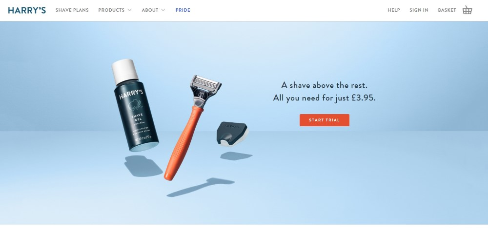 web design for products